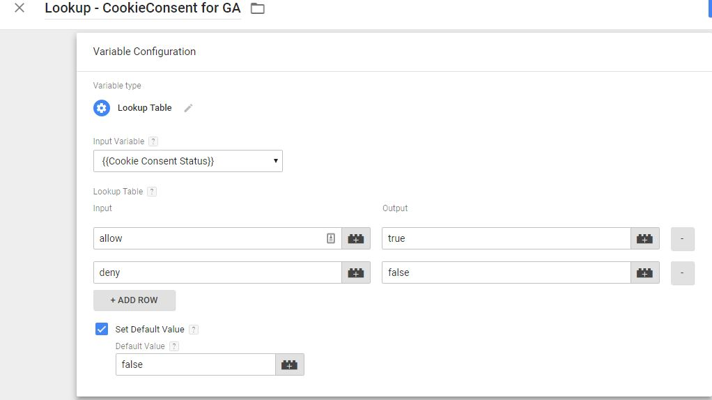 Lookup Cookie Consent Value for Google Analytics